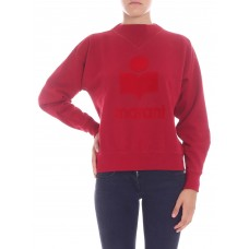 Moby red sweatshirt with flock print - Womens Sweatshirts VMmXpeD1