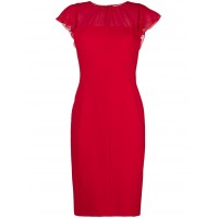Max Mara Chiffon Panel Dress - 012 RED - Womens Cocktail Dresses WKNXDMMZ