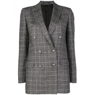 Tagliatore Checked Double-breasted Blazer - N1267 - Womens Blazers XYUQCTES